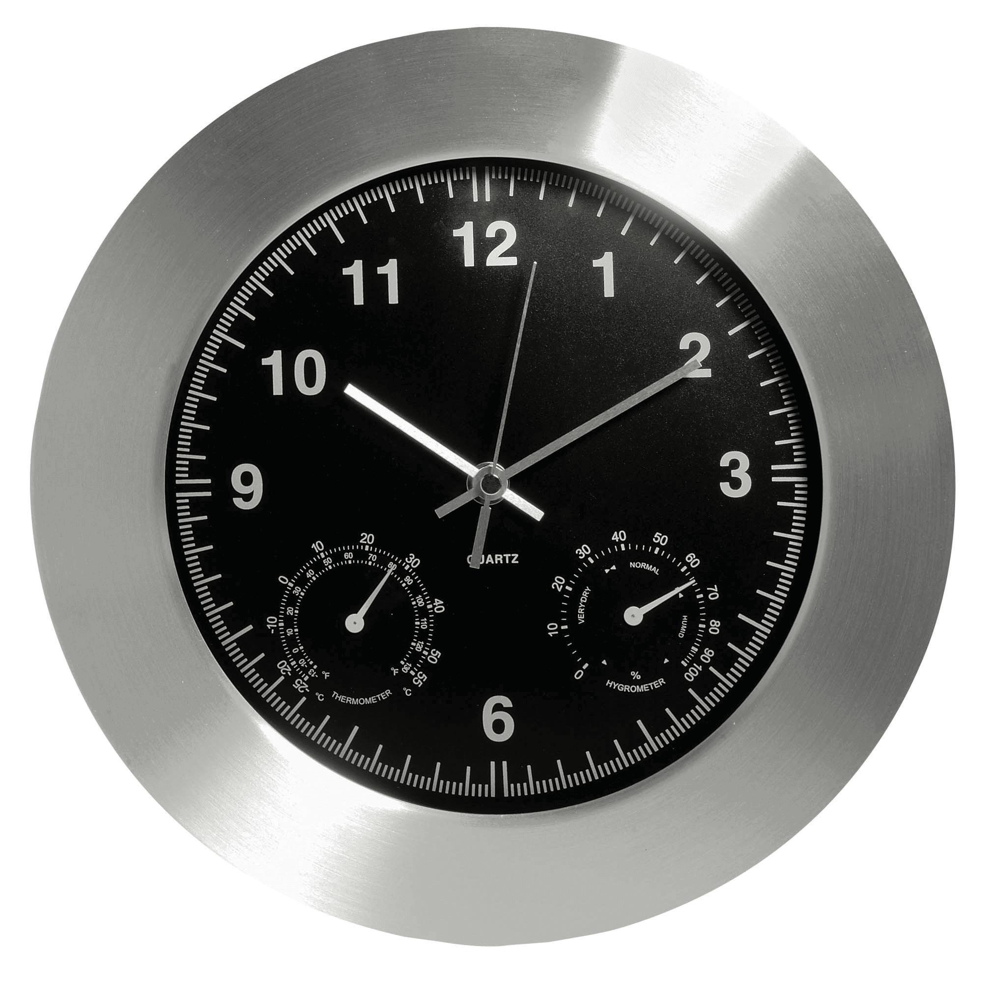 Eddingtons Weather Station Wall Clock With Hygrometer