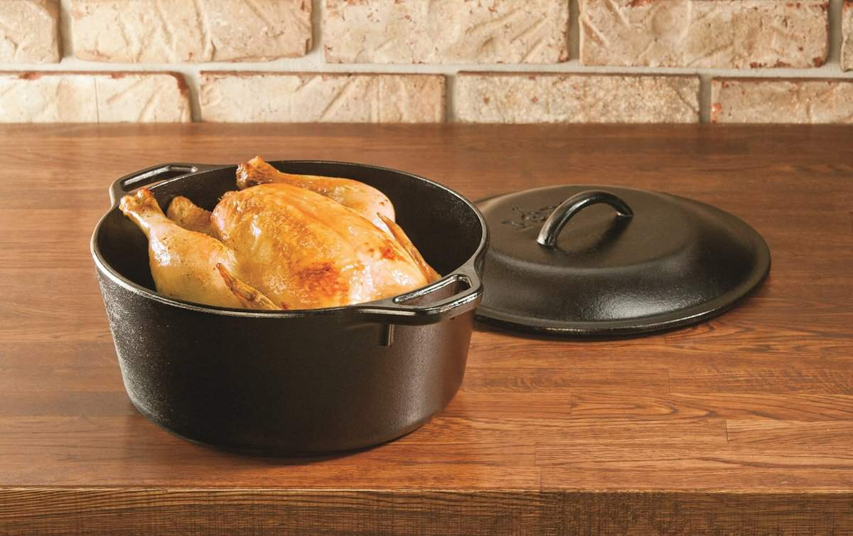 lodge cast iron dutch oven 5 quart 4 7 litre l8dol3. Black Bedroom Furniture Sets. Home Design Ideas
