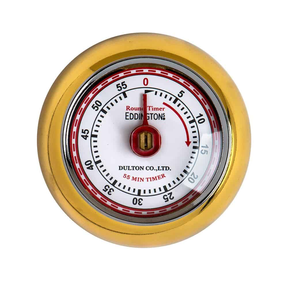 Eddingtons Magnetic Kitchen Timer - Retro Gold